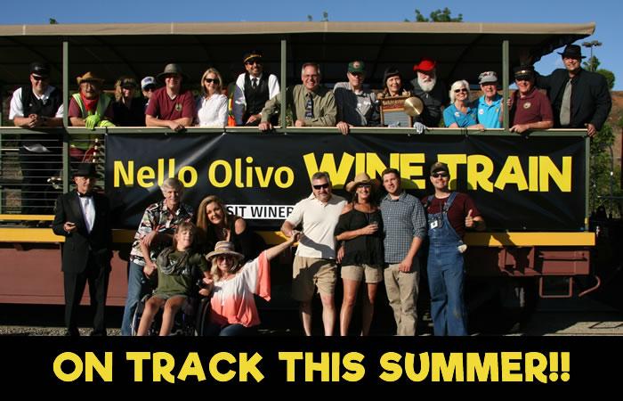Nello Olivo wine train rides again this summer