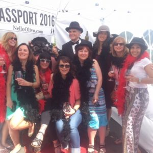 Members of the wine mob with Nello Olivo at Passport