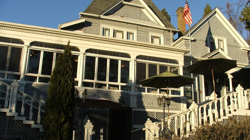 Sequoia Mansion home of Nello Olivo Winery tasting room