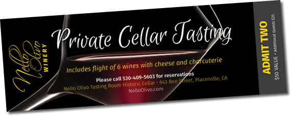 Nello Olivo Private Cellar Tasting Ticket