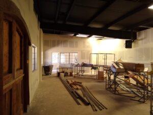 Construction photo, Nello Olivo Tasting Room in Camino