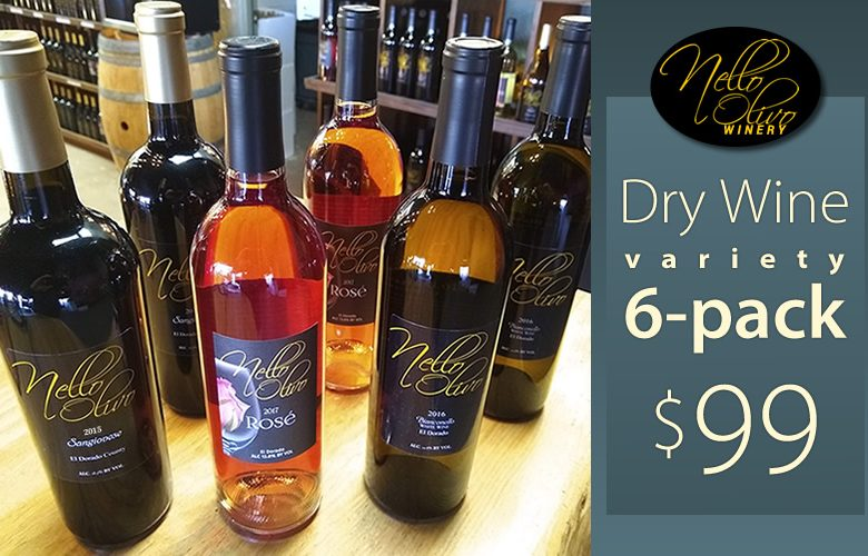 Nello Olivo Winery Thanksgiving Dry Wine Variety 6-pack