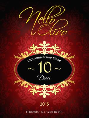 Dieci 2015 - Nello Olivo Winery