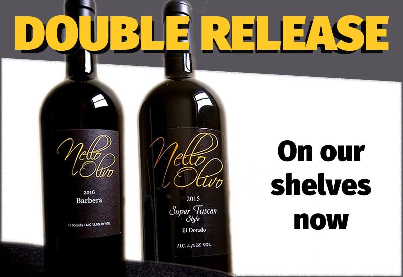 Two great Nello Olivo wines...Barbera 2016 and Super Tuscan 2015